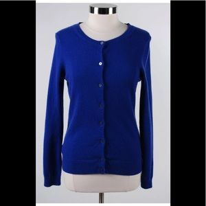 Lands' End Blue 100% Cashmere Cardigan Size S